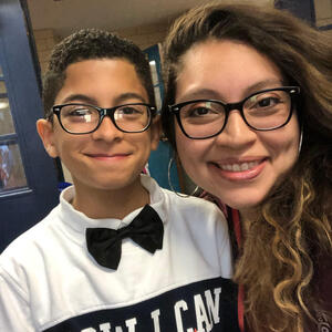 Karen Gonzalez with son